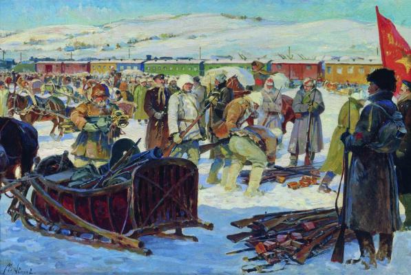 Михаил Иванович Авилов. Разоружение частей Колчаковской армии. 1926