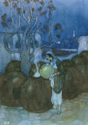Edmund Dulac. Lawrence Hausman. Arabian tales. 1907