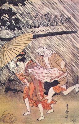 Kitagawa Utamaro. The shower