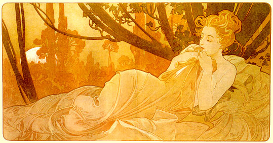 Alfons Mucha. Flowers and dreams
