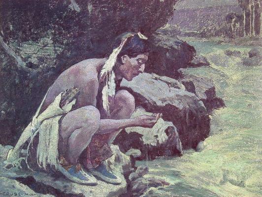 Ингер Ирвинг Каус. Индианец пьет воду