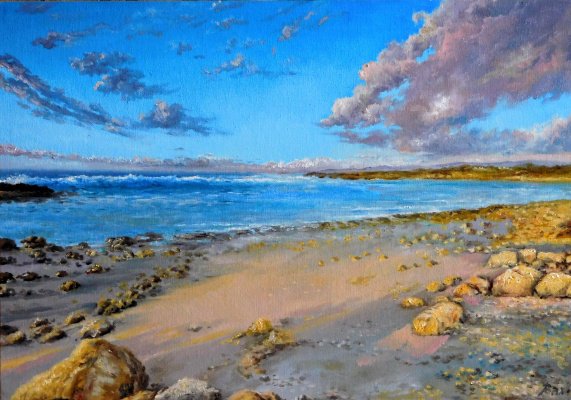 "Vladimir Kimovich Vakhrushev. ""Morning on the shore"""