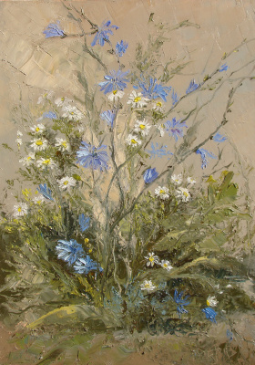 Elena Valyavina. Chicory and daisies