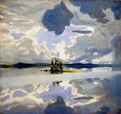 Axeli Valdemar Gallen-Kallela. Clouds Above a Lake