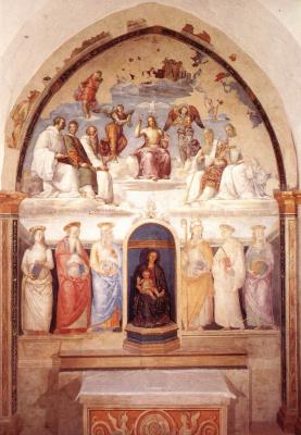 Пьетро Перуджино. Троица и шесть святых