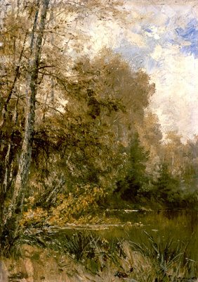 Alexey Petrovich Bogolyubov. Autumn in the village of Glebovo-Streshnevo