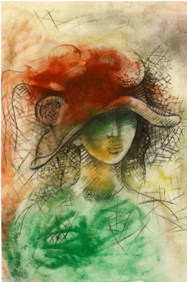 Anatoly Ivanovich Kotov. Girl in red hat