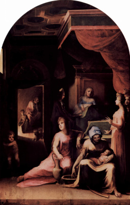 Domenico Beccafumi. The Nativity Of The Virgin