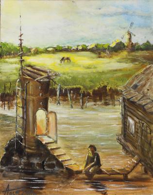 Alexander Semenovich Osin. Rustic pastoral