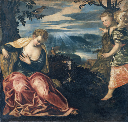 Jacopo (Robusti) Tintoretto. The Annunciation: The Angel and Wife Manoes