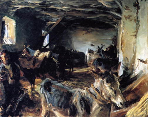 John Singer Sargent. Stable at Cuenca