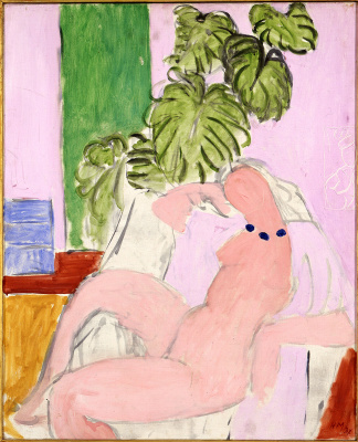 Henri Matisse. Naked in an armchair and foliage