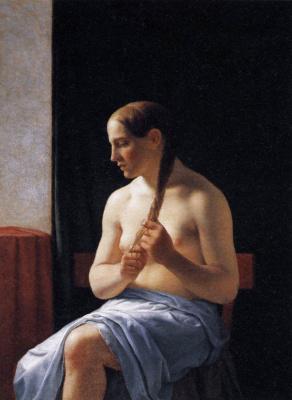 Christopher Wilhelm Eckersberg. Nude at the window