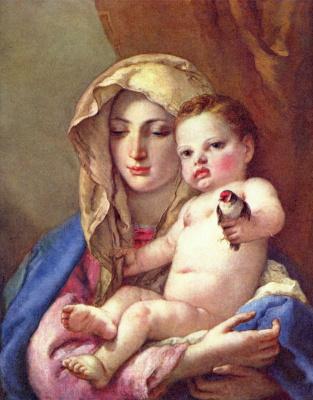 Джованни Доменико Тьеполо. Мадонна со щегленком