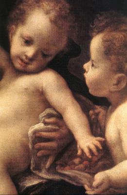 Антонио Корреджо. Дева с младенцем и ангелом