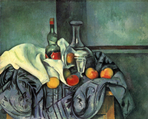 Paul Cezanne. Still life with a bottle of crème de menthe
