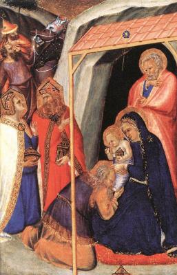 Pietro Lorenzetti. The adoration of the Magi