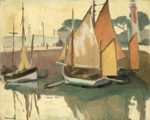 Albert Marquet. The Port Of La Roshal. Tide