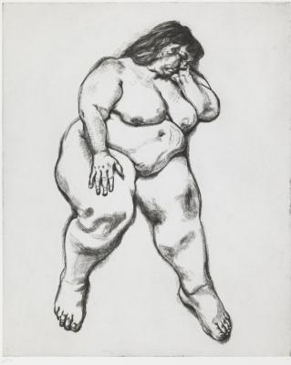 Lucien Freud. Woman Sleeping