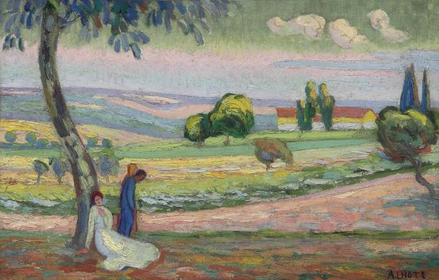 Андре Лот. Фигуры под деревом. 1906-1908