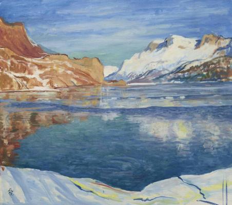Giovanni Giacometti. A freezing lake