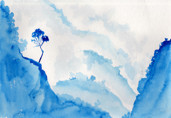 Ekaterina Viktorovna Mitrofanova. Blue mountains