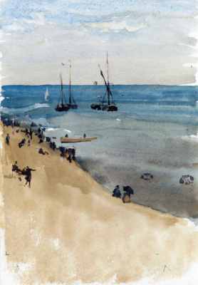 James Abbot McNeill Whistler. Green and silver - the Bright sea, Dieppe