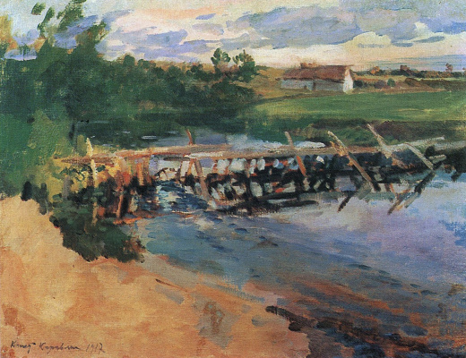 Konstantin Korovin. At the pool