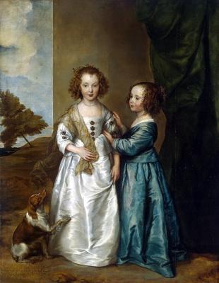 Anthony van Dyck. Portrait of Elizabeth and Philadelphia Wharton
