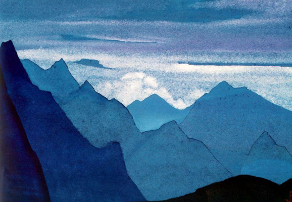 Nicholas Roerich. The Himalayas (Rose dusk in the mountains)