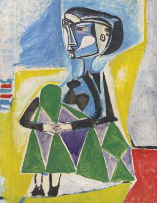 Pablo Picasso. Woman Squatting (Jacqueline)
