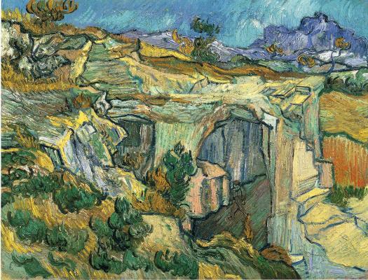 Винсент Ван Гог. Вход в каменоломню у Сен-Реми