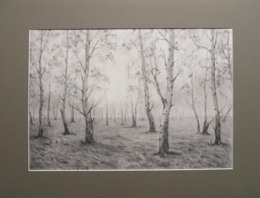 Elena Vyazemskaya. Morning in the birch trees