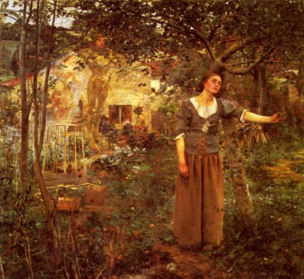Жюль Бастьен-Лепаж. Девушка у дерева