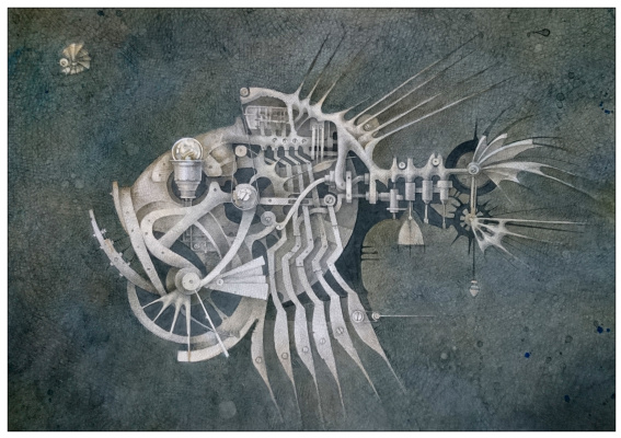 "Natalia Andreevna Korotaeva. Hatchet, series ""Mechanical Aquarium"""