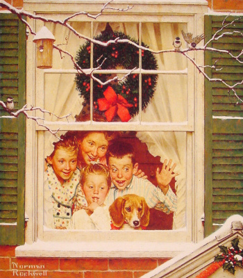 Norman Rockwell. Christmas day