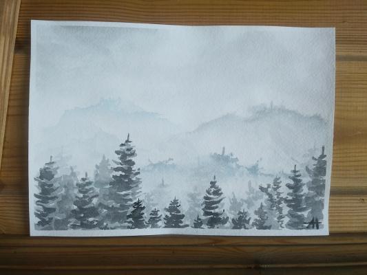 Alina Nesterova. In the haze