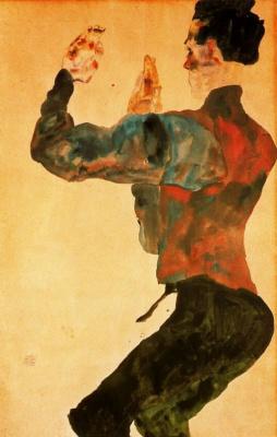 Эгон Шиле. Автопортрет с поднятыми руками