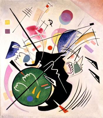 Wassily Kandinsky. Black form (Schwarze Form)