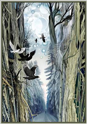 Konstantin Avdeev. Walk in the winter forest