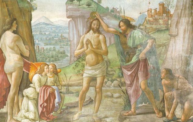 Domenico Girlandajo. The Baptism Of Jesus