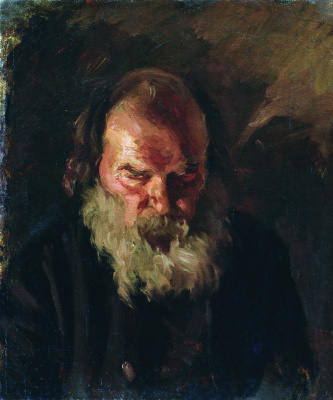 Nikolay Aleksandrovich Yaroshenko. The old man's head.