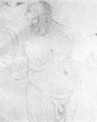 Albrecht Durer. Naked man with mirror