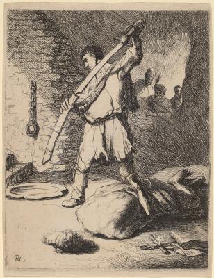 Рембрандт Харменс ван Рейн. Обезглавливание Иоанна Крестителя