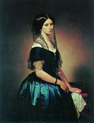 Francesco Ayets. Portrait of Antonetta Tarsis Basilico