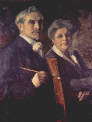 Леонид Осипович Пастернак. Портрет художника и его жены