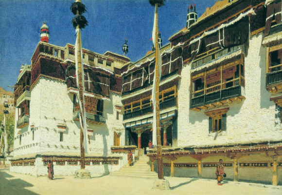 Vasily Vereshchagin. The monastery of Hemis in Ladakh