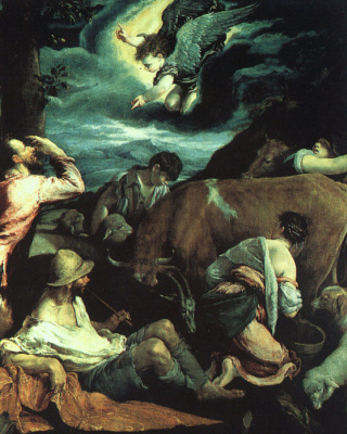 Jacopo da Ponte Bassano. The Annunciation