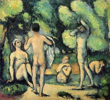 Paul Cezanne. Bathers (Detroit)
