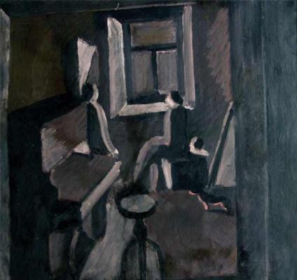 Андрей Владимирович Васнецов. Федя, пианино, бабушка